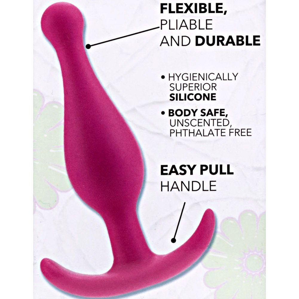 "California Exotics Booty Call Booty Rocker Silicone Anal Probe 4"" Pink - View #1"