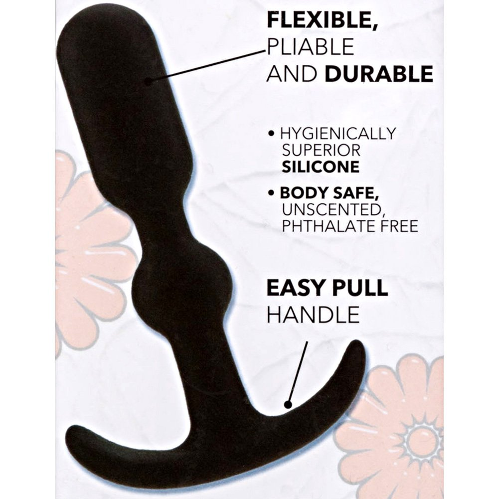 "California Exotics Booty Call Booty Teaser Silicone Anal Probe 4"" Black - View #1"