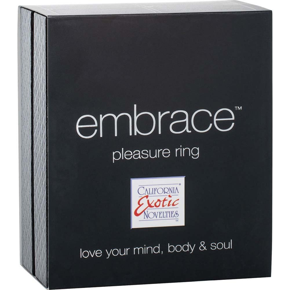 Embrace Pleasure Ring USB Rechargeable Silicone Cockring Purple - View #3