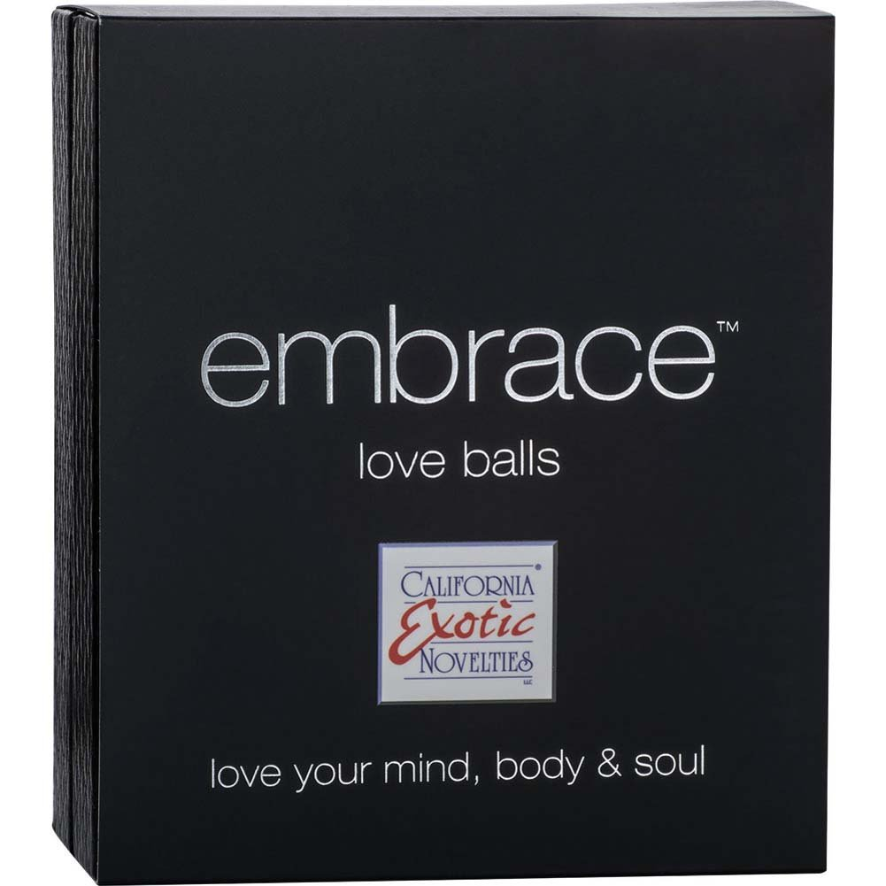 CalExotics Embrace Love Balls Silicone USB Rechargeable Kegel Vibe Grey - View #3