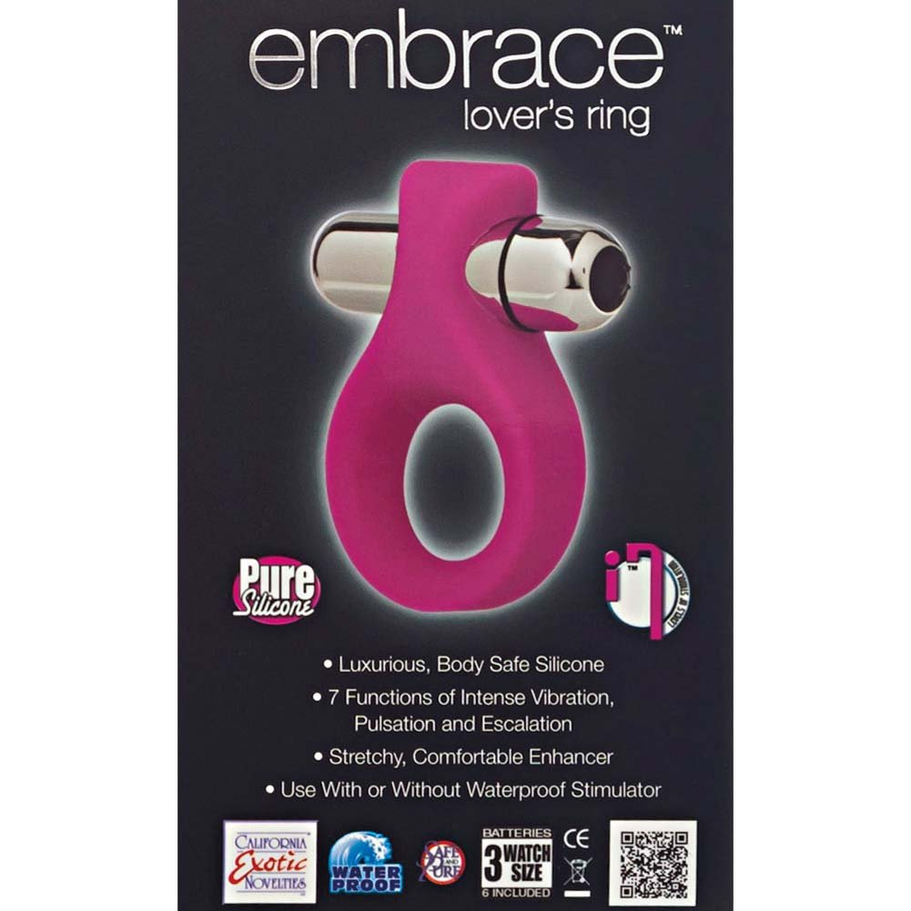 California Exotics Embrace Lovers Vibrating Silicone Ring Pink - View #1