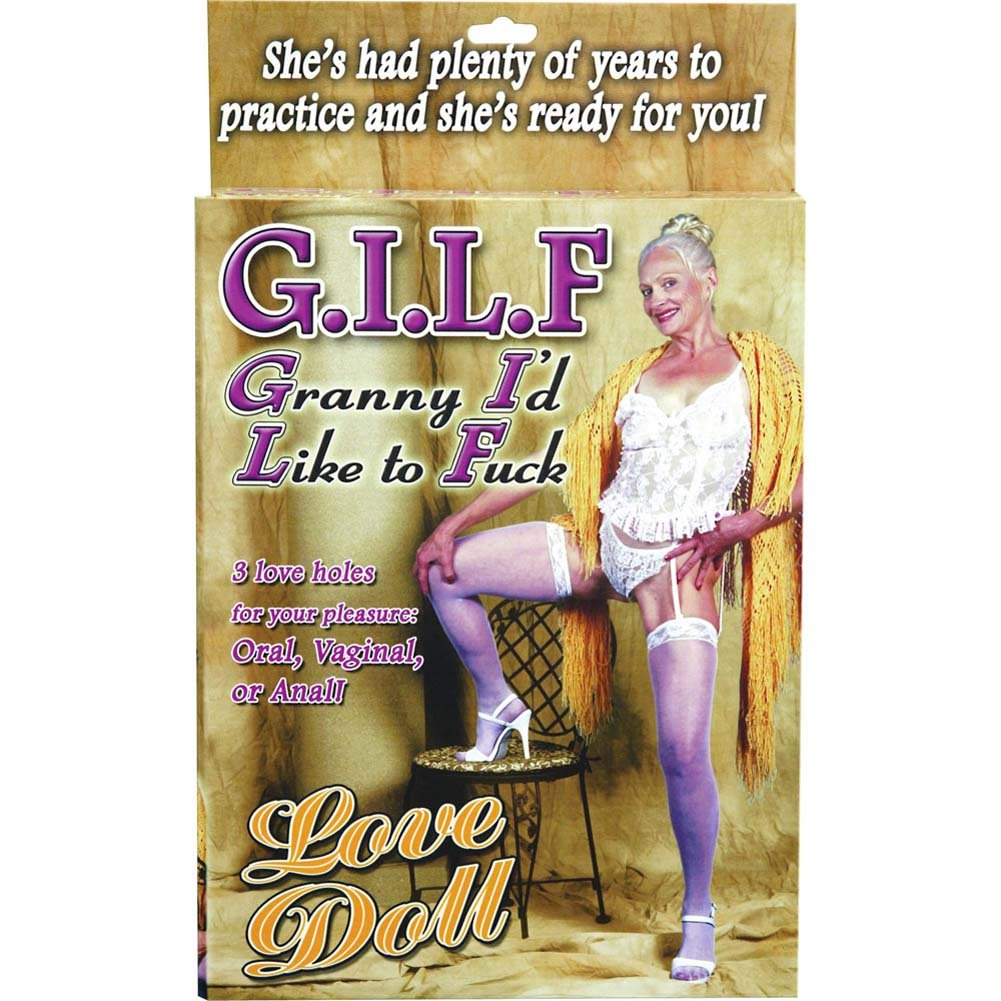 G.I.L.F. Granny ID Like to FCk Inflatable Love Doll - View #3
