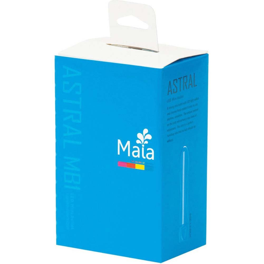 "Maia Astral MB1 LED Silicone Mini Bullet 3.5"" Neon Blue - View #1"