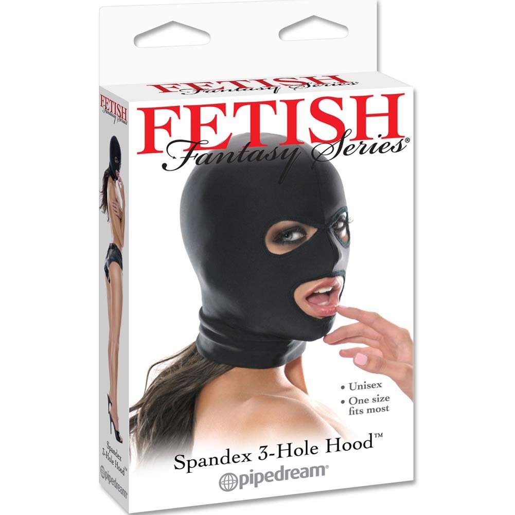 Fetish Fantasy Series Spandex 3 Hole Hood Black - View #1
