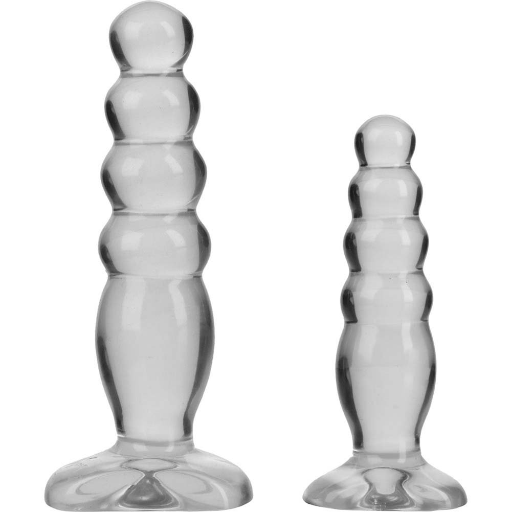 Crystal Jellies Anal Delight Butt Plug Trainer Kit Clear - View #2