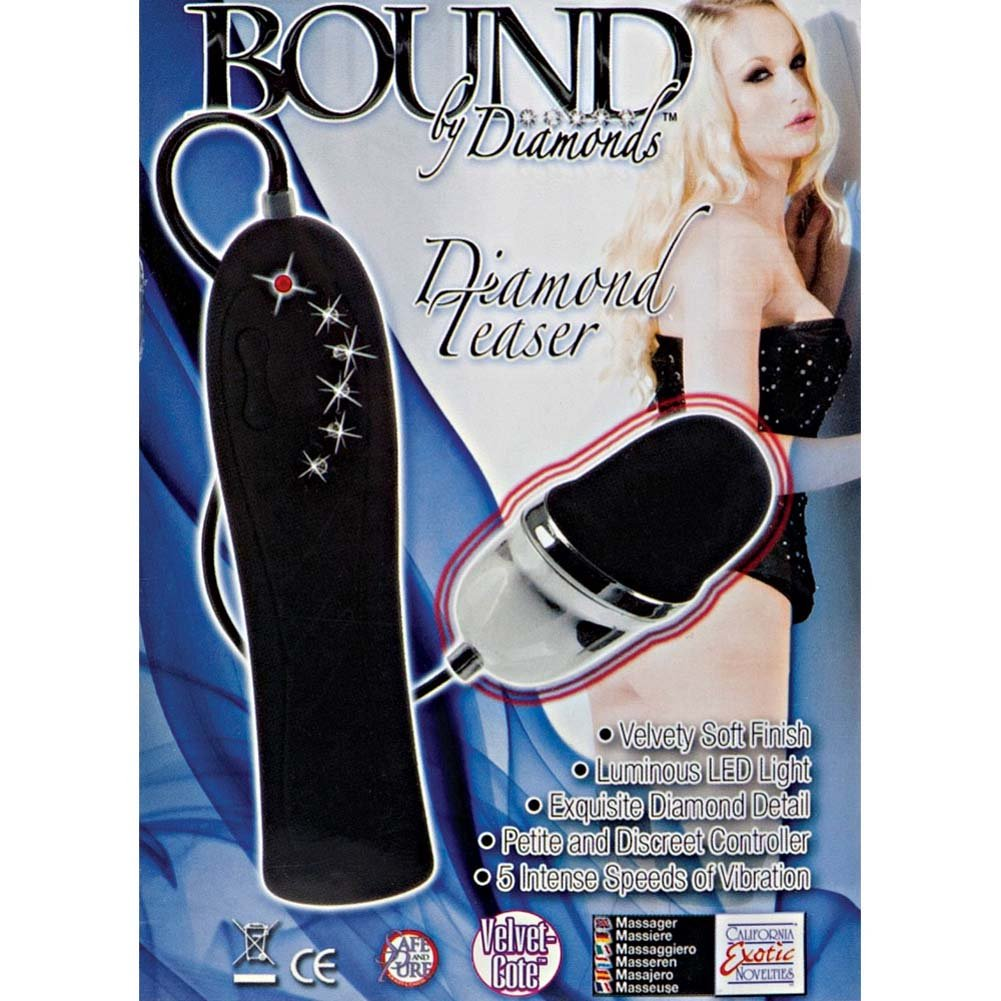 Bound By Diamonds Diamond Teaser Vibrating Bullet Black - View #1