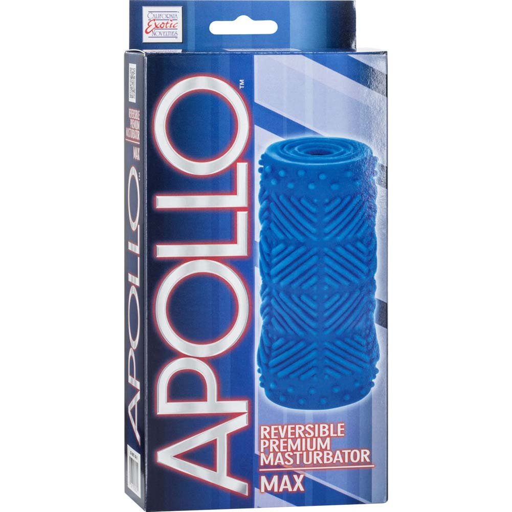 "Apollo Reversible Premium Masturbator Max 4.75"" Blue - View #4"