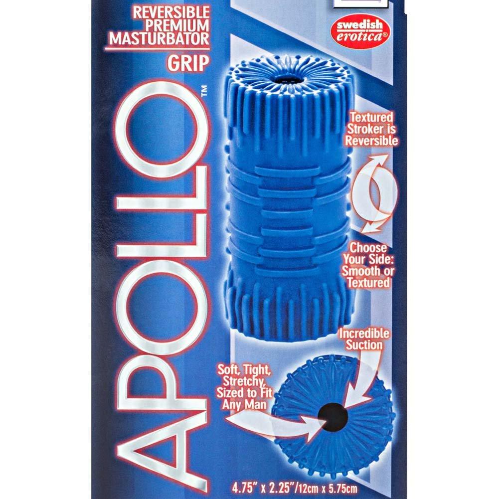 """Apollo Reversible Premium Masturbator Grip 4.75"""" Blue - View #1"""