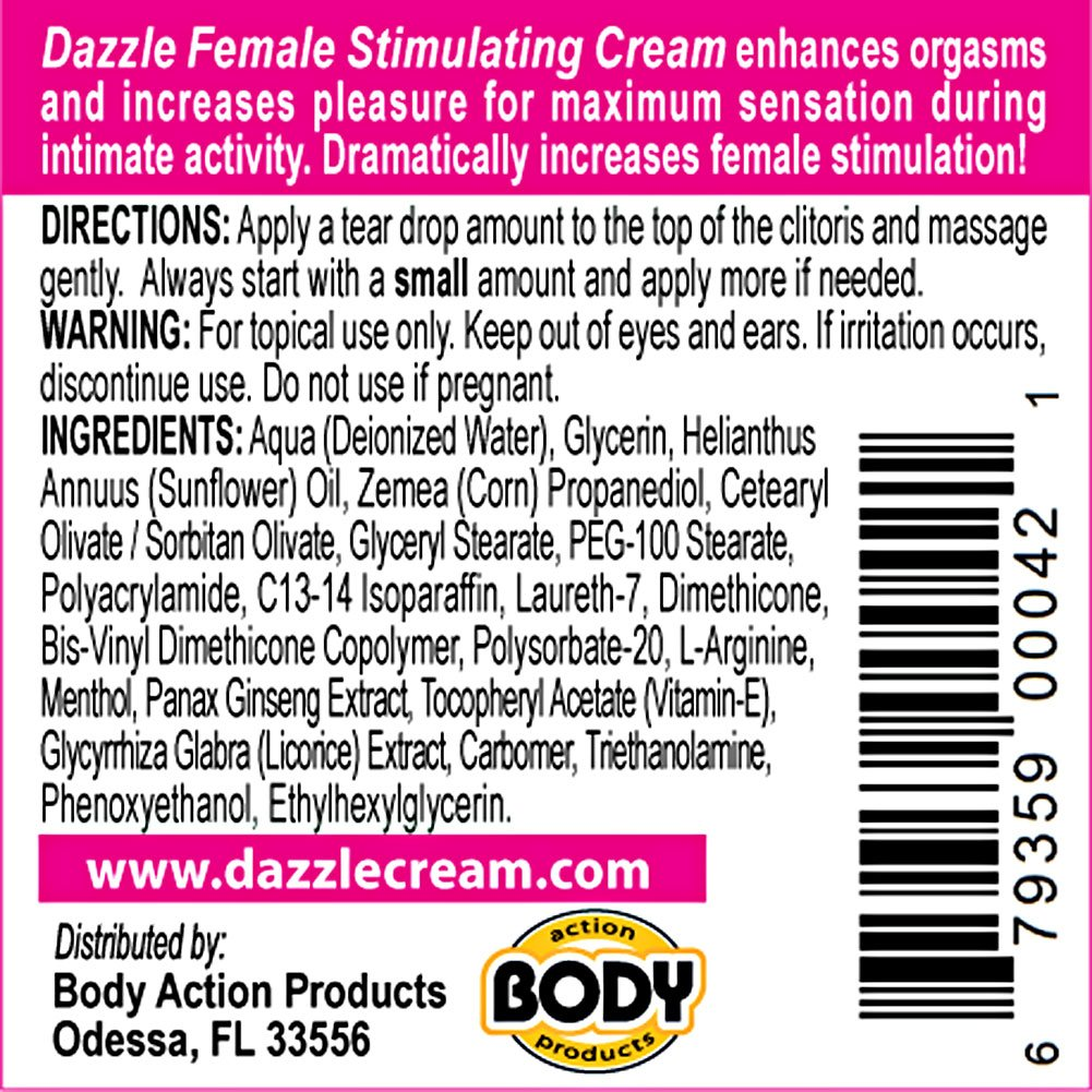Dazzle Female Stimulating Cream .5oz 15 Ml - View #1