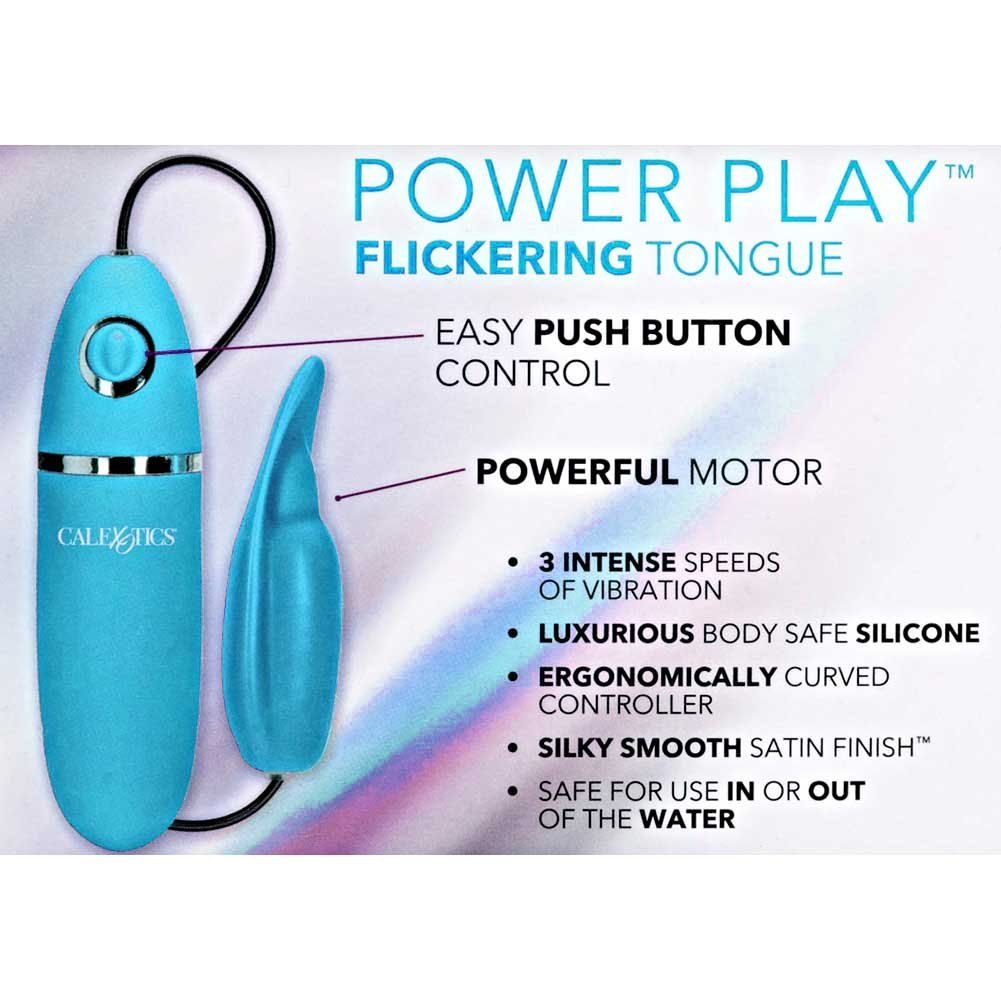 "Power Play Silicone Flickering Tongue 4"" Teal - View #1"