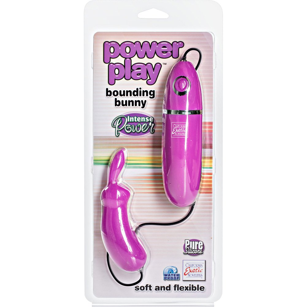 "Power Play Silicone Bounding Bunny 4.75"" Purple - View #1"