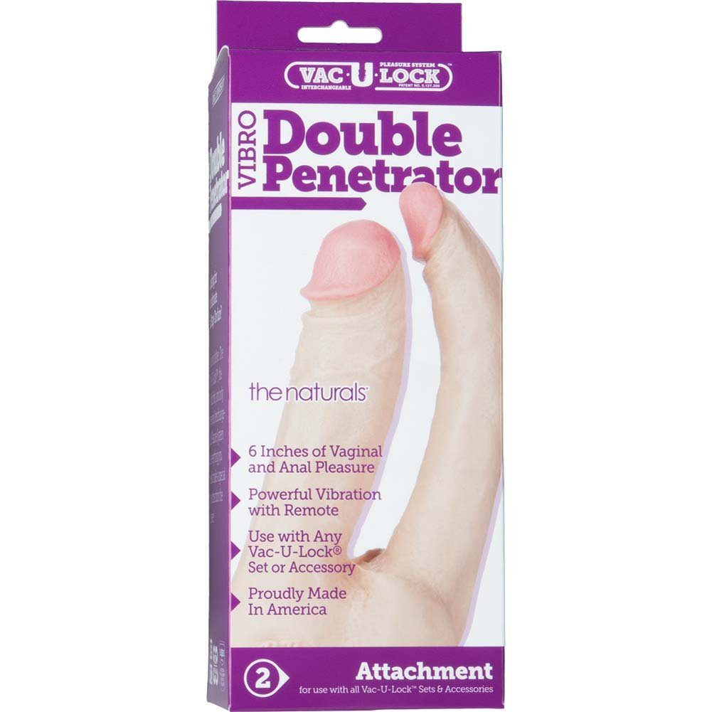 Vac-U-Lock Vibro Double Penetrator Natural - View #1