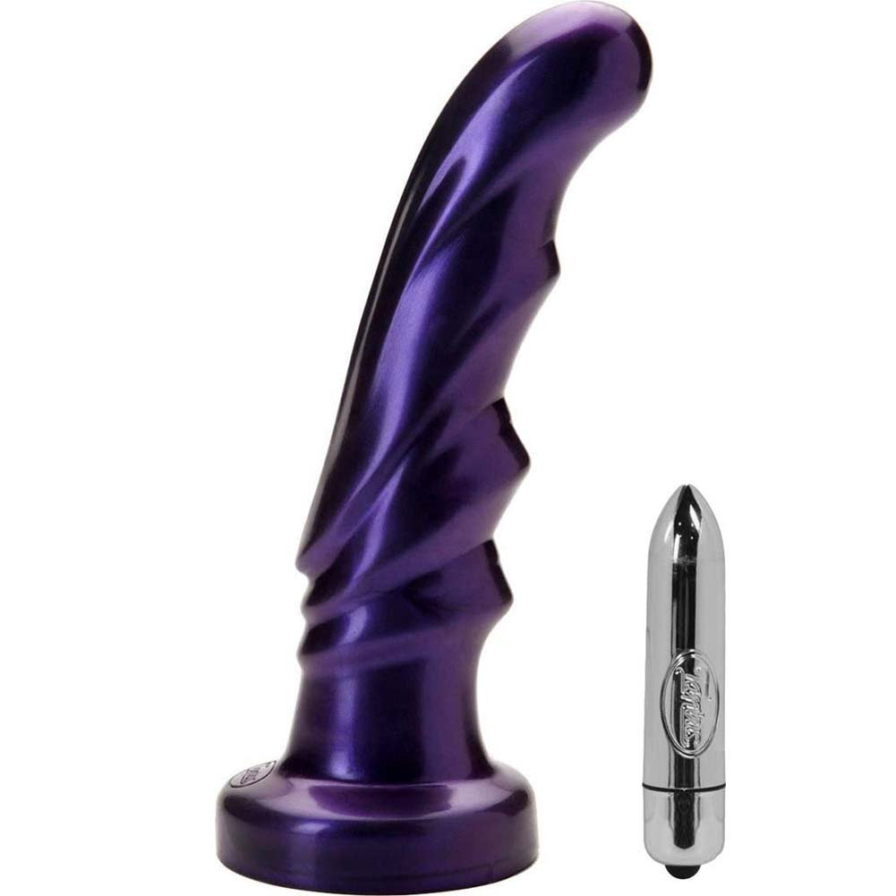 "Tantus Tsunami G-Spot Silicone Vibrating Dong 6.75"" Midnight Purple - View #2"