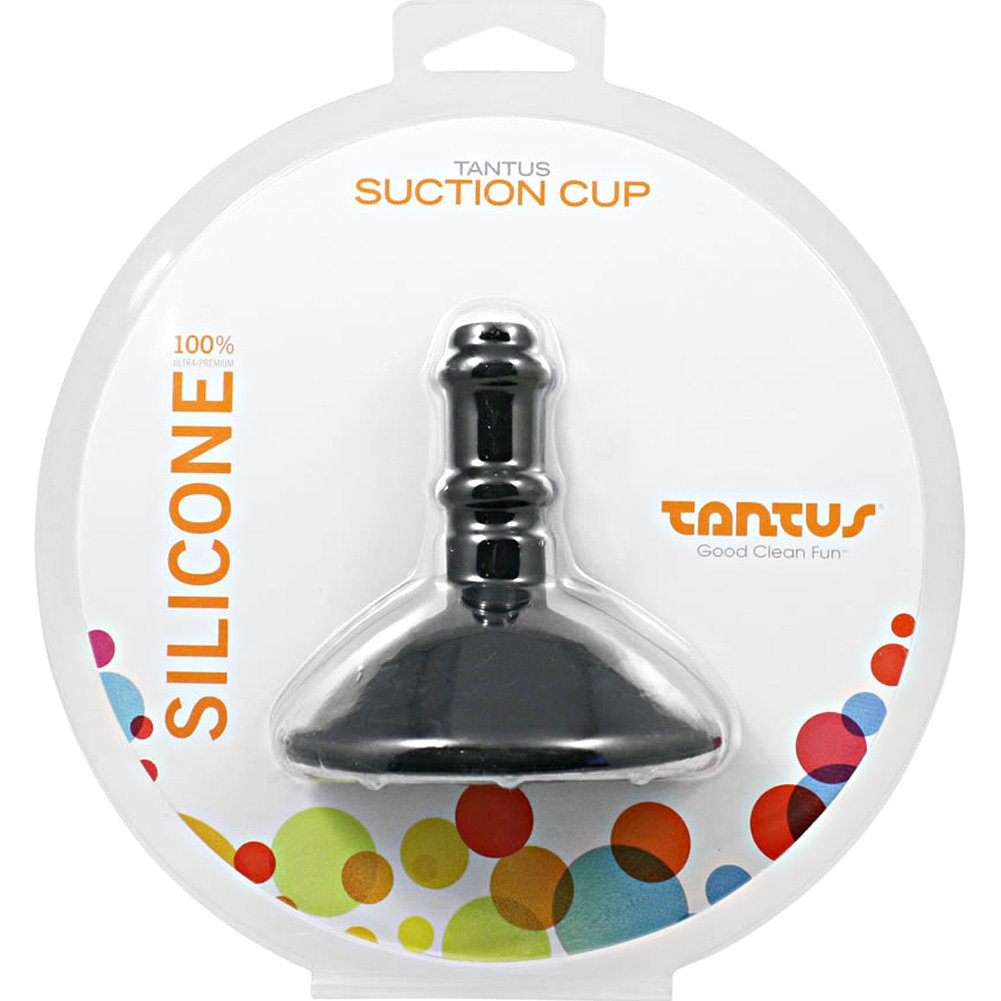 Tantus Silicone Suction Cup Black - View #1