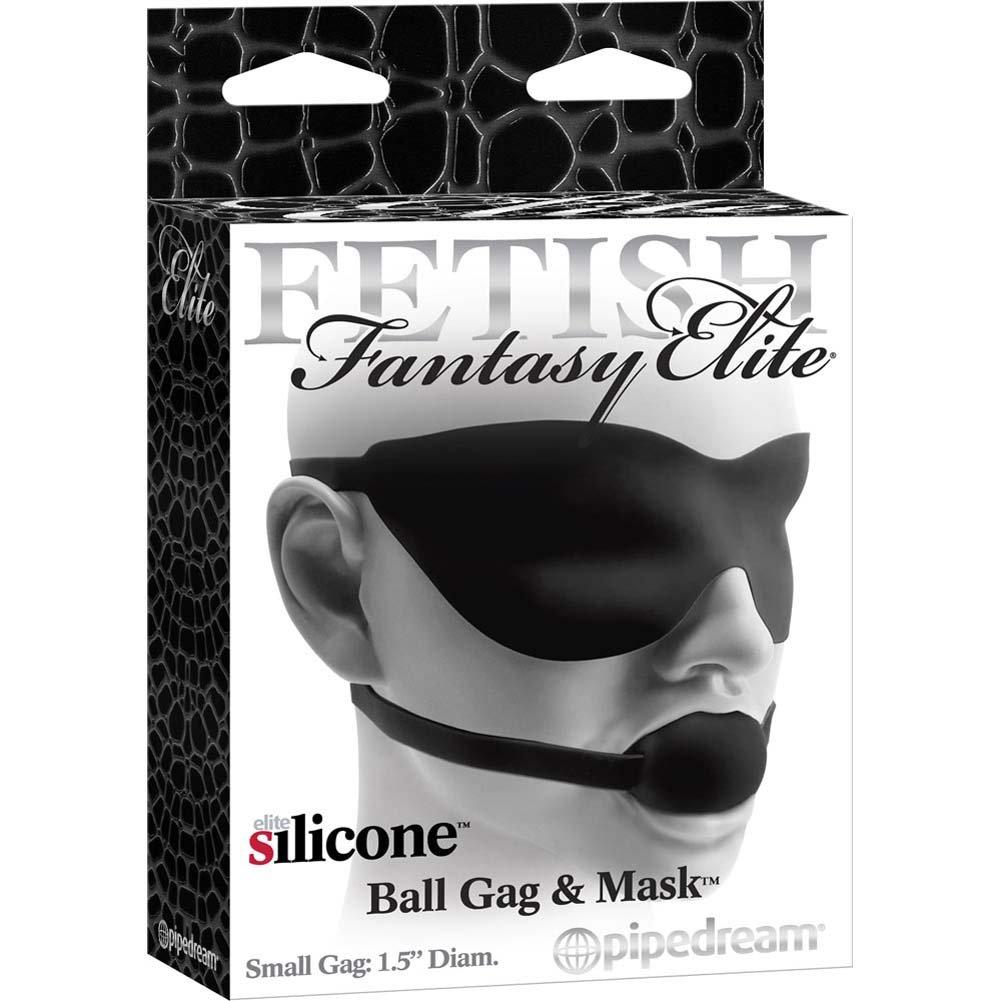 Fetish Fantasy Elite Small Ball Gag Mask Black - View #4
