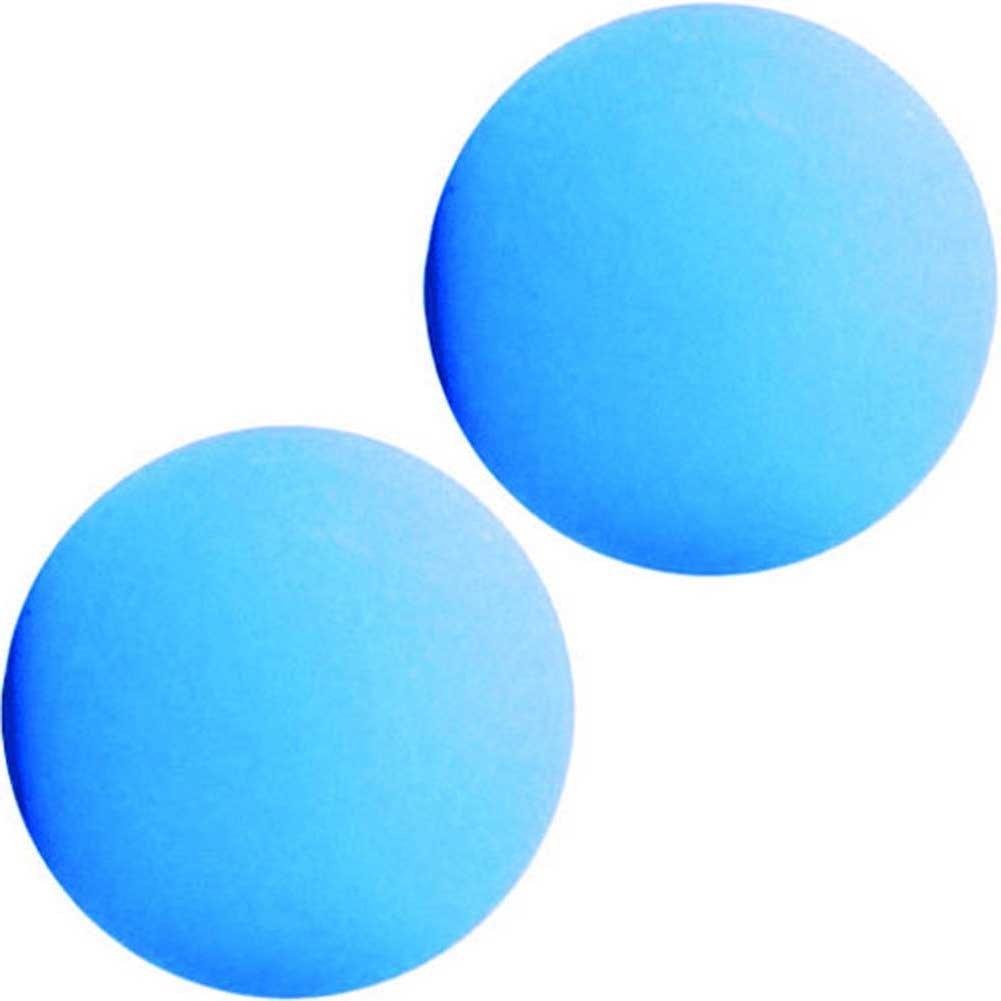"Maia SB1 Silicone Ben Wa Balls 1"" Neon Blue - View #2"