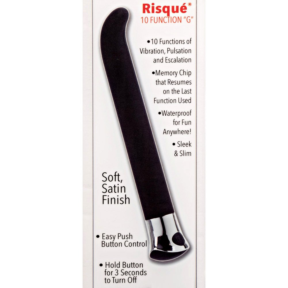 "California Exotics 10 Function Risque G Personal Vibrator 5.5"" Black - View #1"