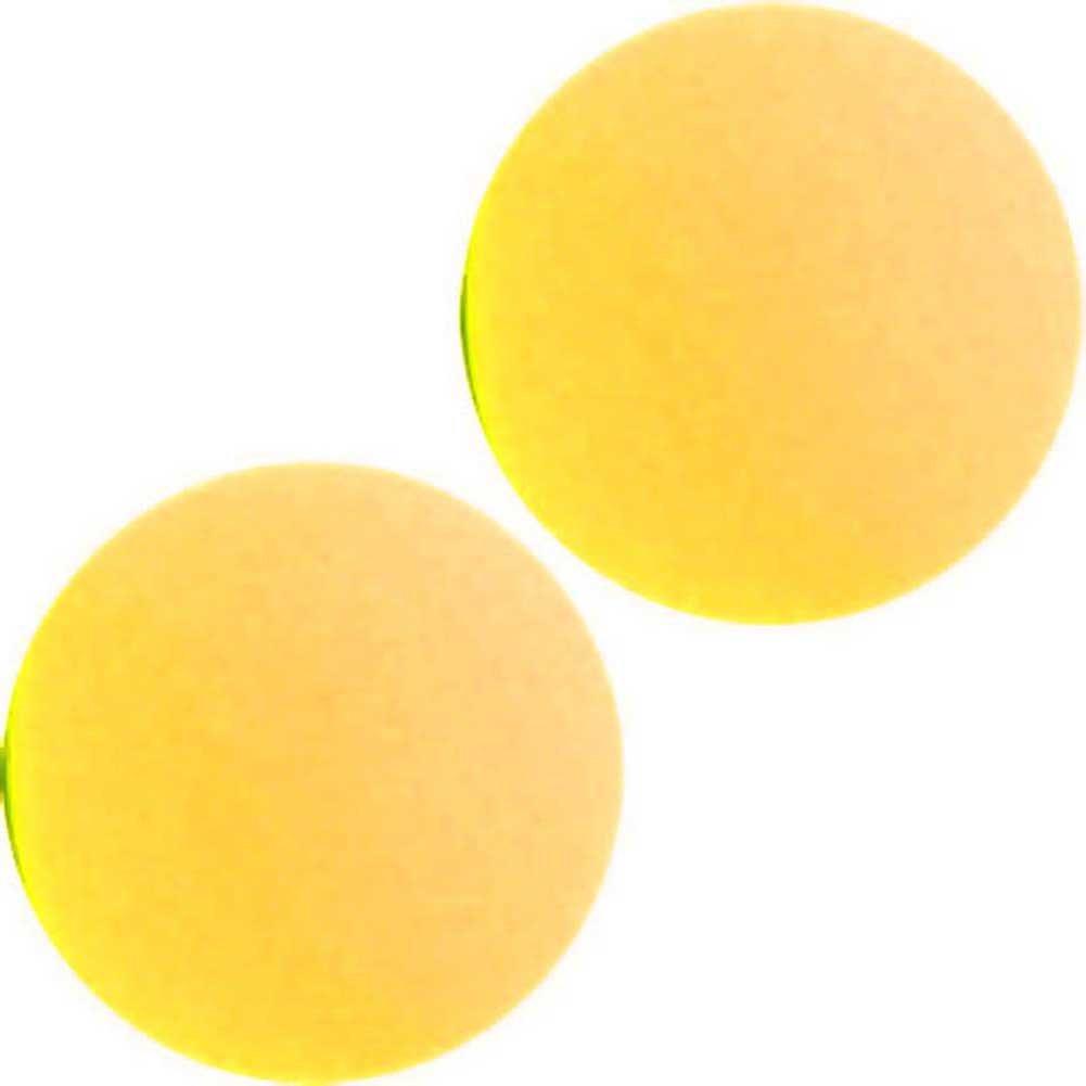 """Maia SB1 Silicone Ben Wa Balls 1"""" Neon Yellow - View #2"""