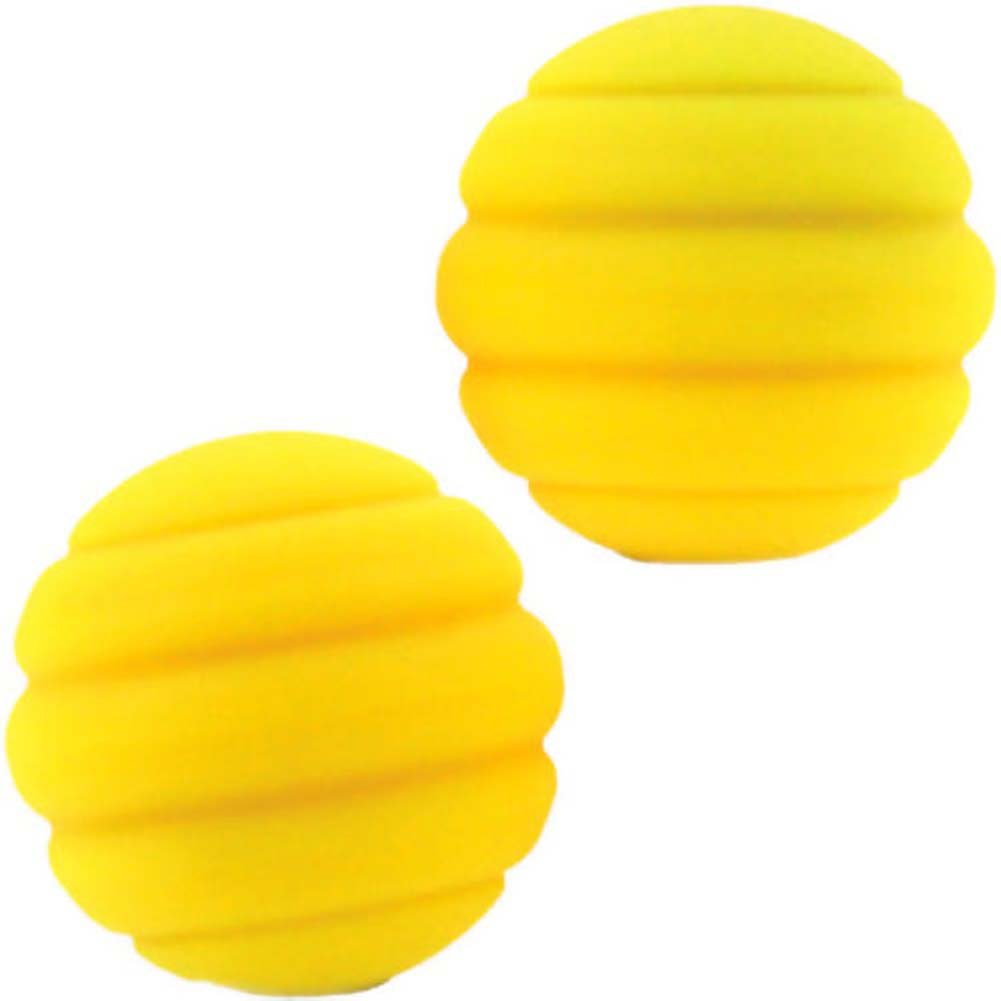 "Maia Twistty TTY SB2 Silicone Kegel Balls 1.2"" Neon Yellow - View #2"