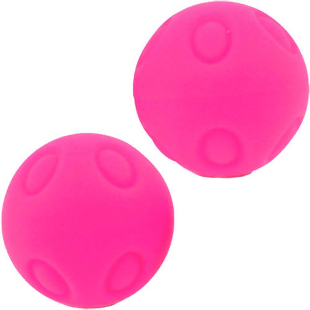 "Maia Wicked WD SB3 Silicone Dotted Kegel Balls 1.2"" Neon Pink - View #2"