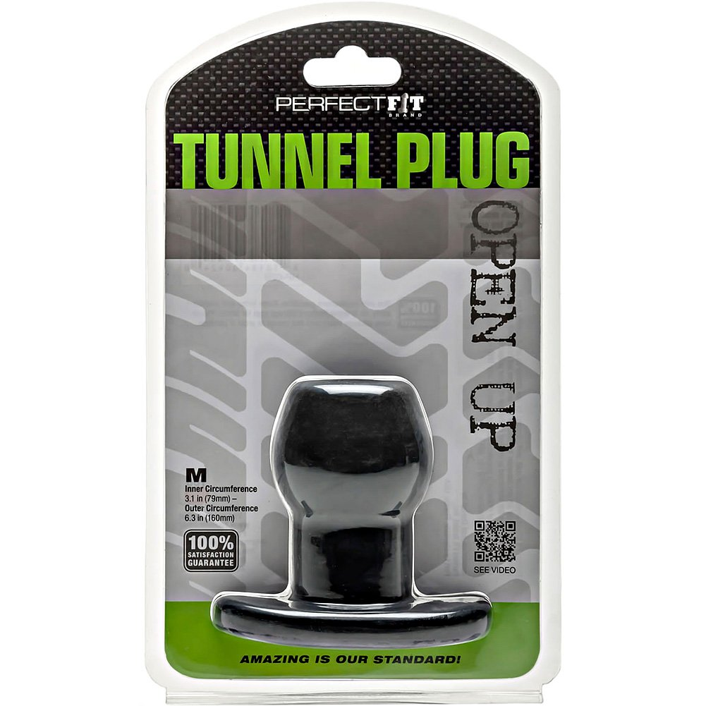 "Perfect Fit Tunnel Plug Medium 3.25"" Black - View #1"