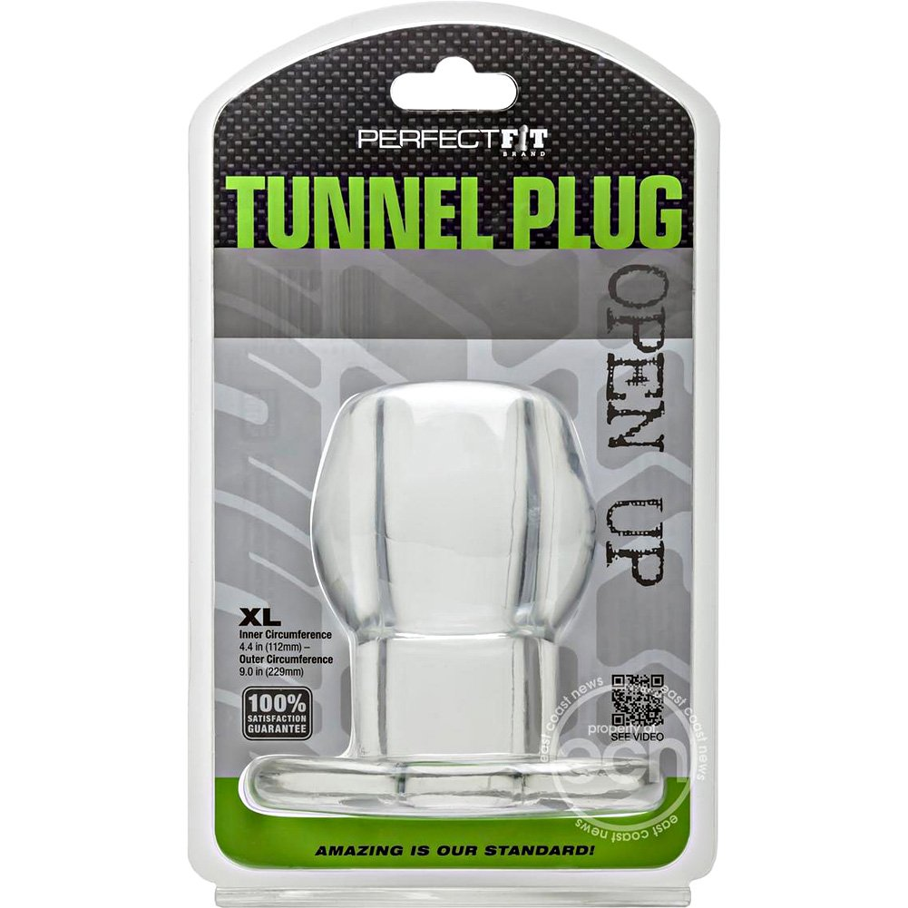 "Perfect Fit Tunnel Plug X- Large 5"" Clear - View #3"
