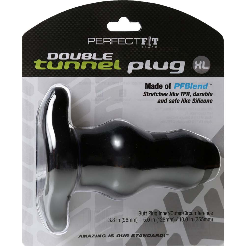 """Perfect Fit Double Tunnel Plug X- Large 6"""" Black - View #4"""