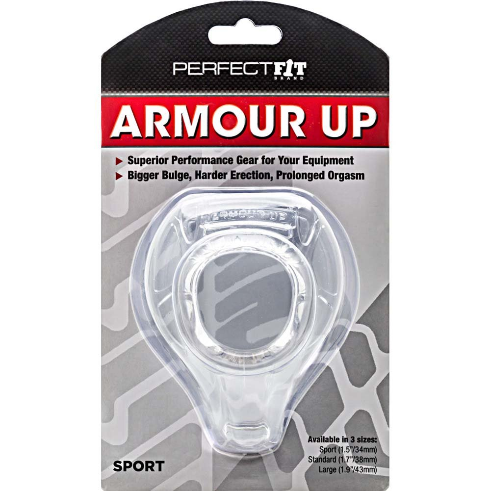 """Perfect Fit Armour Up Sport Cock Armour Ring 1.5"""" Clear - View #1"""