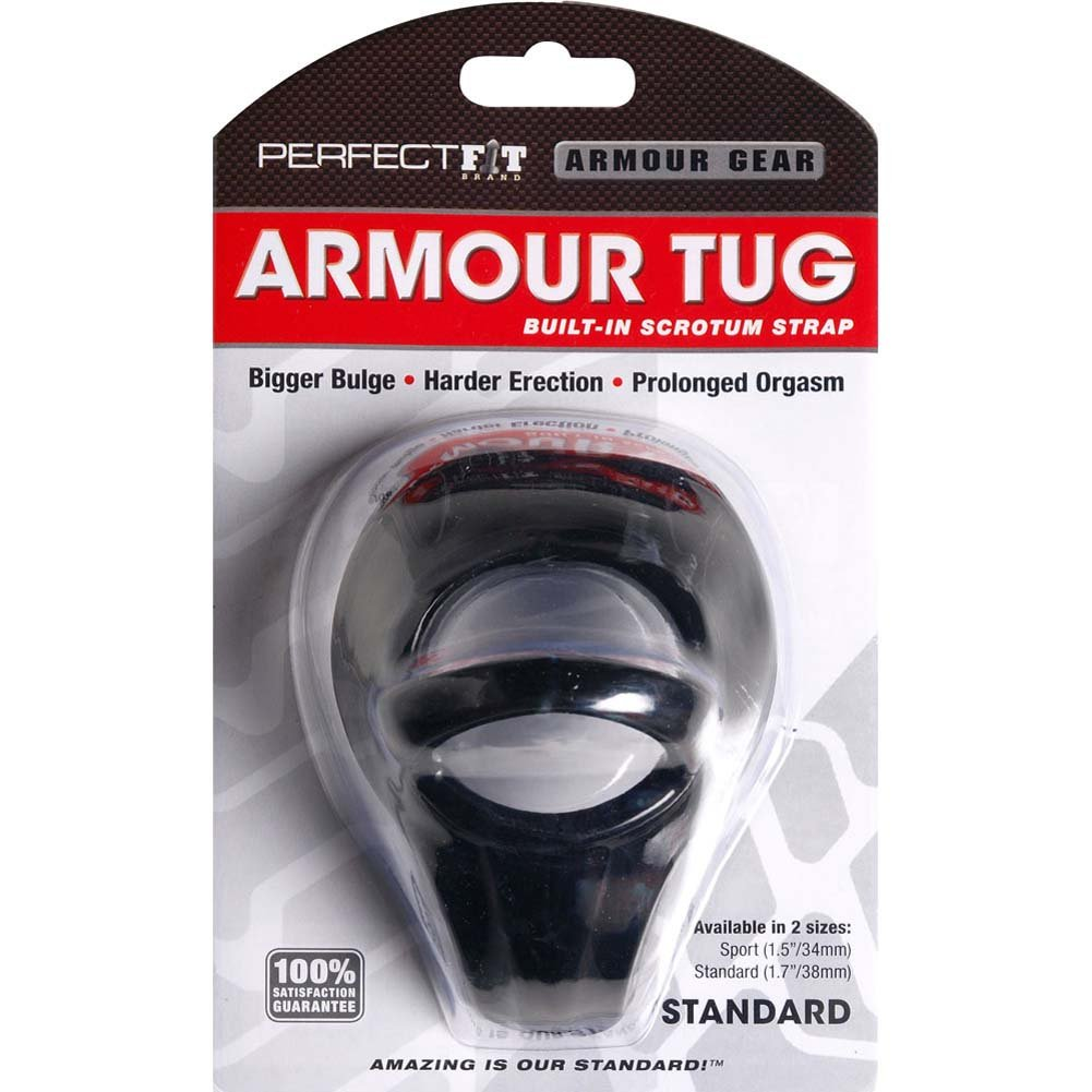 "Perfect Fit Armour Tug Standard Cock Ring 1.75"" Black - View #1"