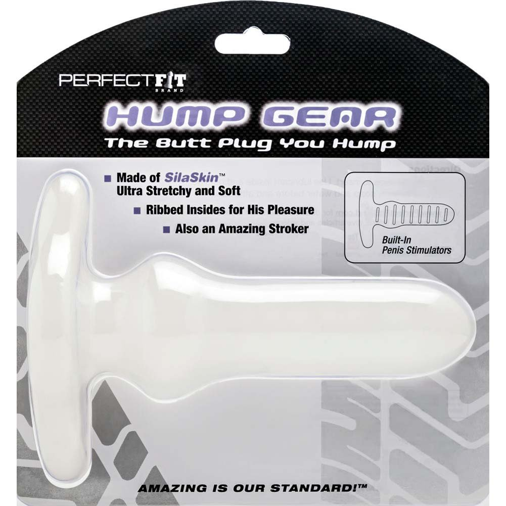 "Perfect Fit Hump Gear Butt Plug 7"" Opaque White - View #1"