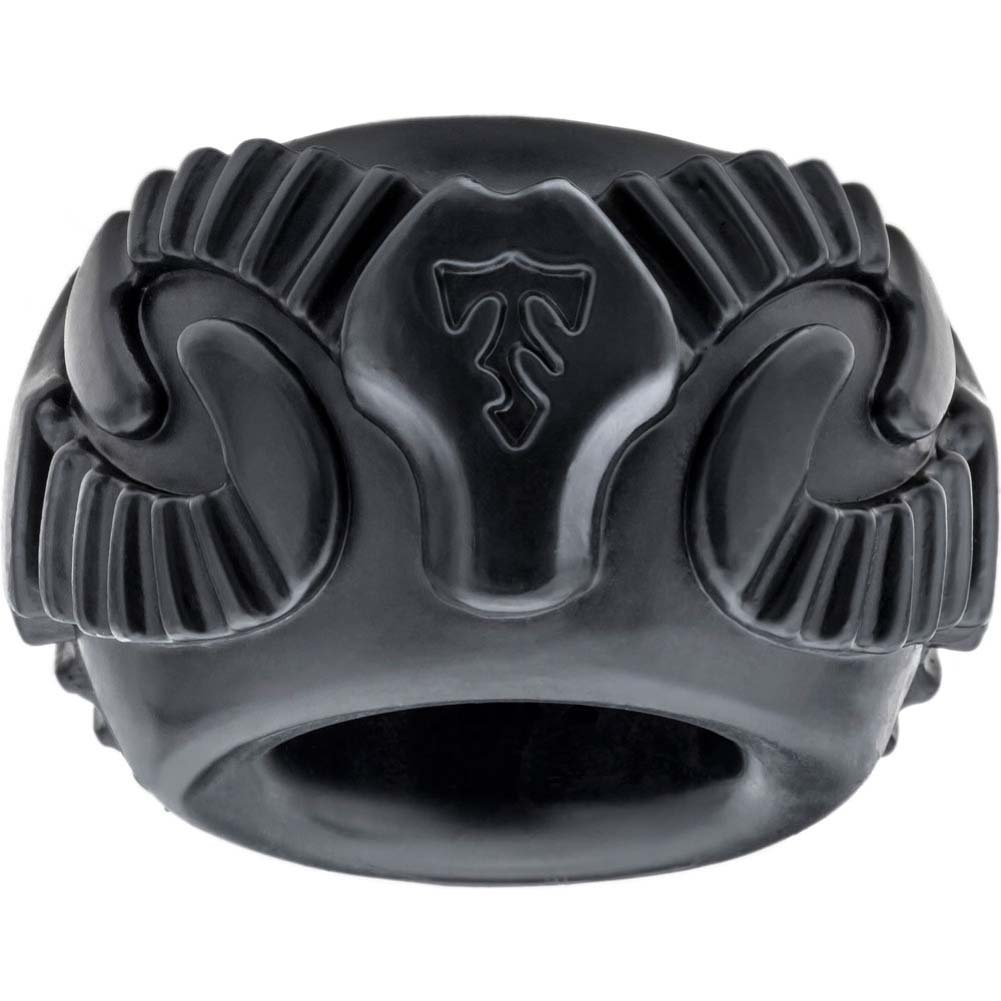 Perfect Fit Tribal Son Double Ram Penis Ring Kit Black - View #2