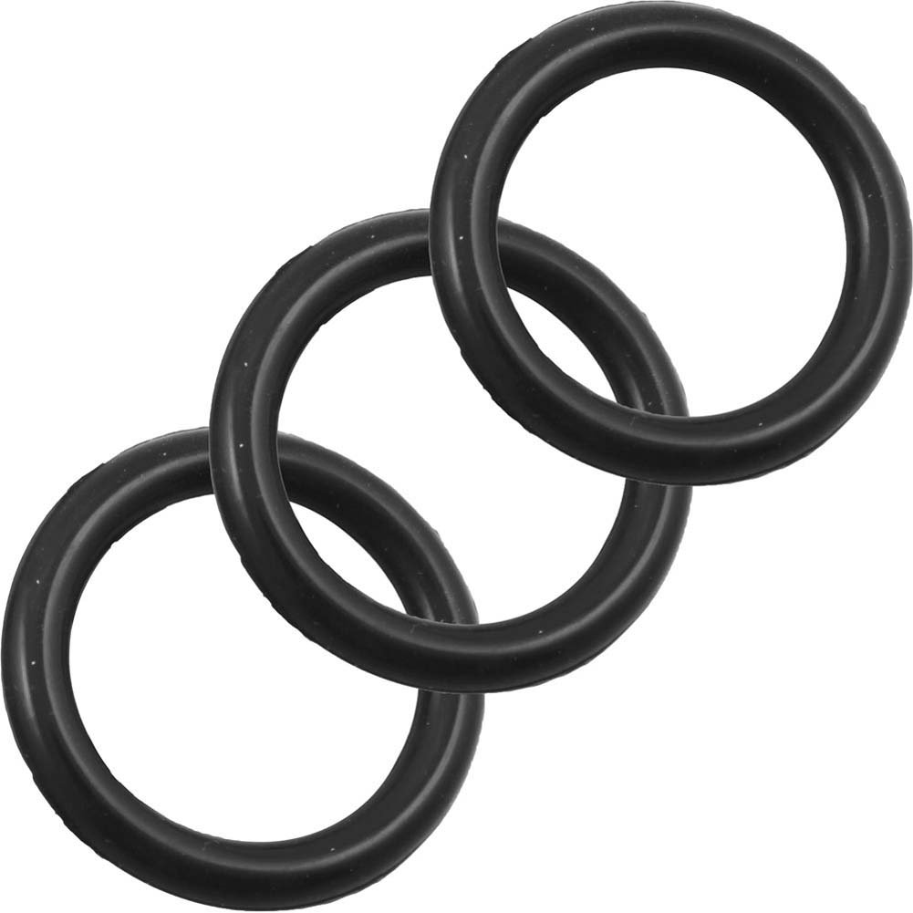Perfect Fit Silicone 3 Ring Kit Medium Black - View #2