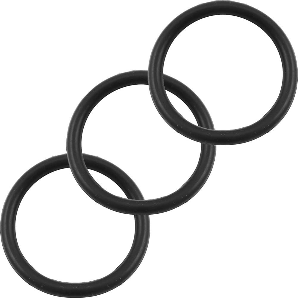 Perfect Fit Silicone 3 Ring Kit X Large Black - View #2