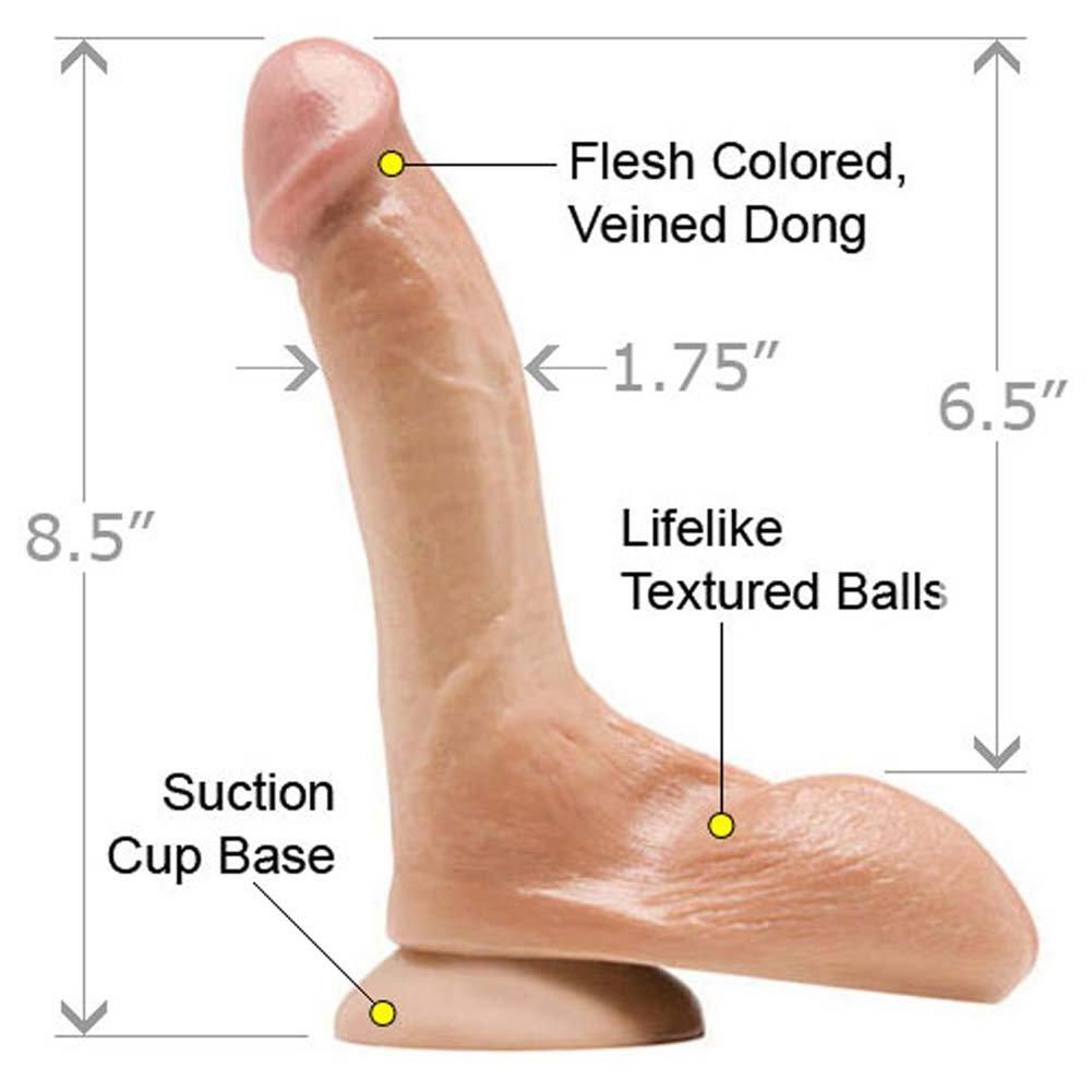 "Rascal Toys Jeremy Bilding FleshPhallix Penis 8.5"" Natural - View #1"