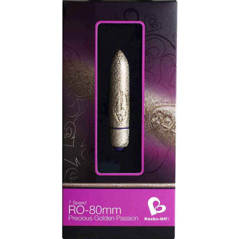 "Rocks-Off RO-80mm 7 Speed Vibrating Bullet 3.25"" Golden Passion - View #1"