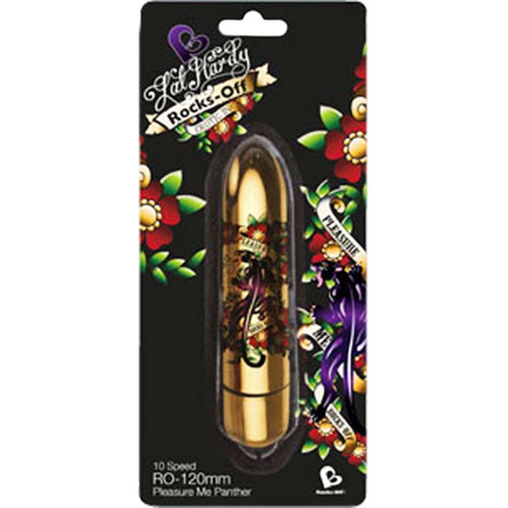 "Rocks-Off Lal Hardy RO-120mm Pleasure Me Panther Tattoo Bullet 4.75"" - View #1"