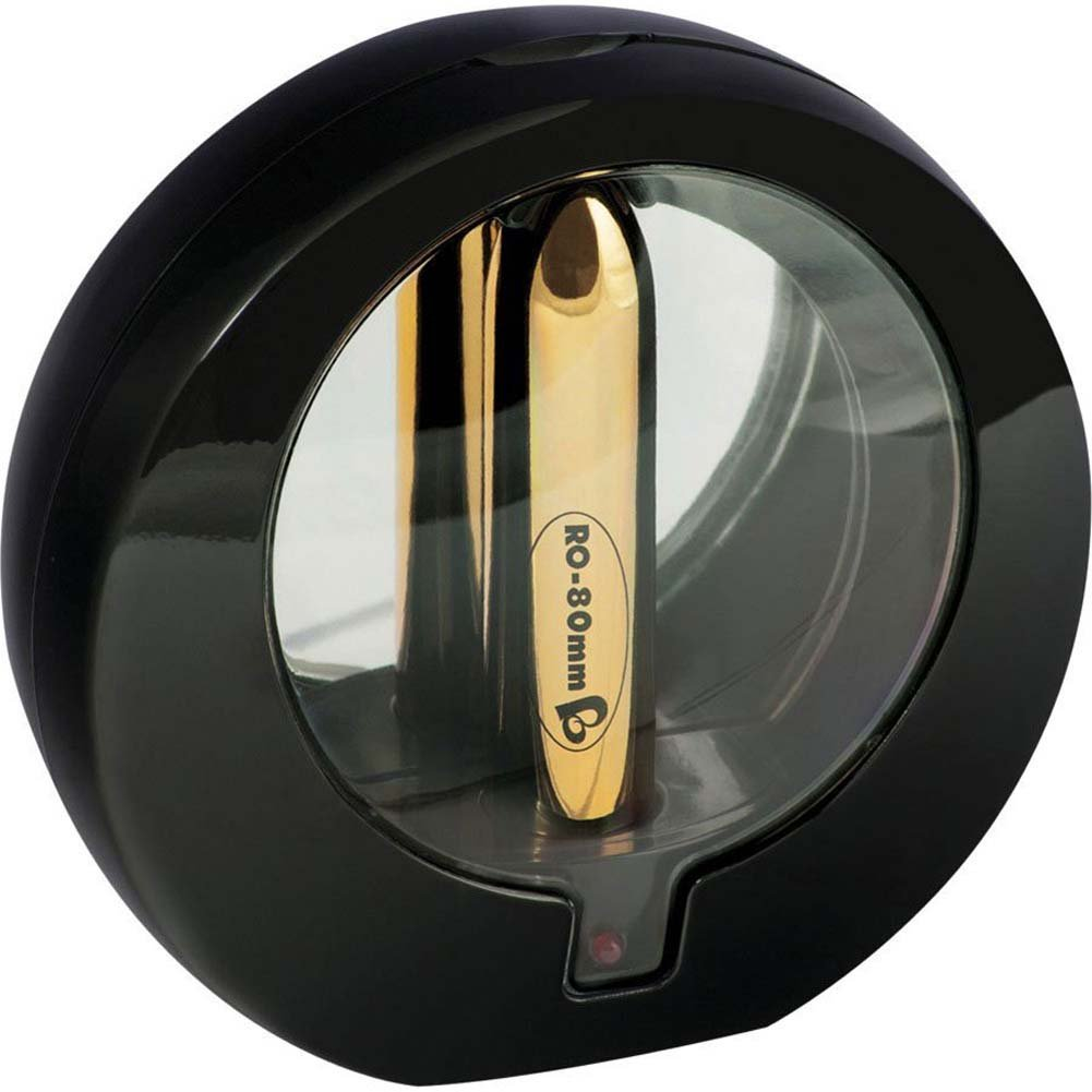 "Rocks-Off RO-80mm Rechargeable Bullet 3.25"" Gold - View #1"