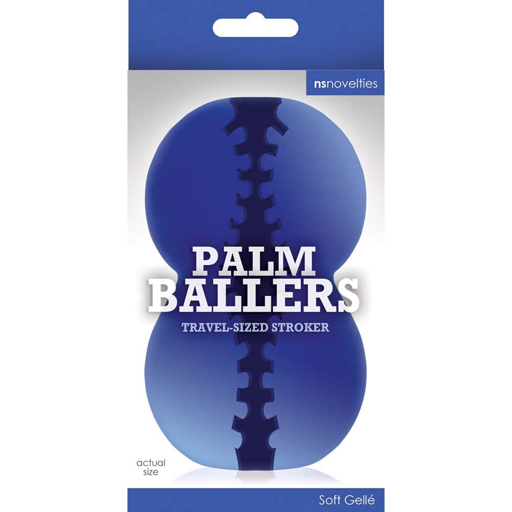 "Palm Ballers Travel Sized Stroker 4"" Blue - View #1"