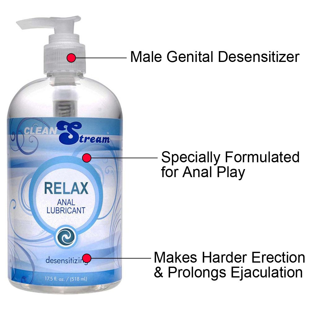 CleanStream Relax Desensitzng Anal Lube 17.5 Fl. Oz. - View #1