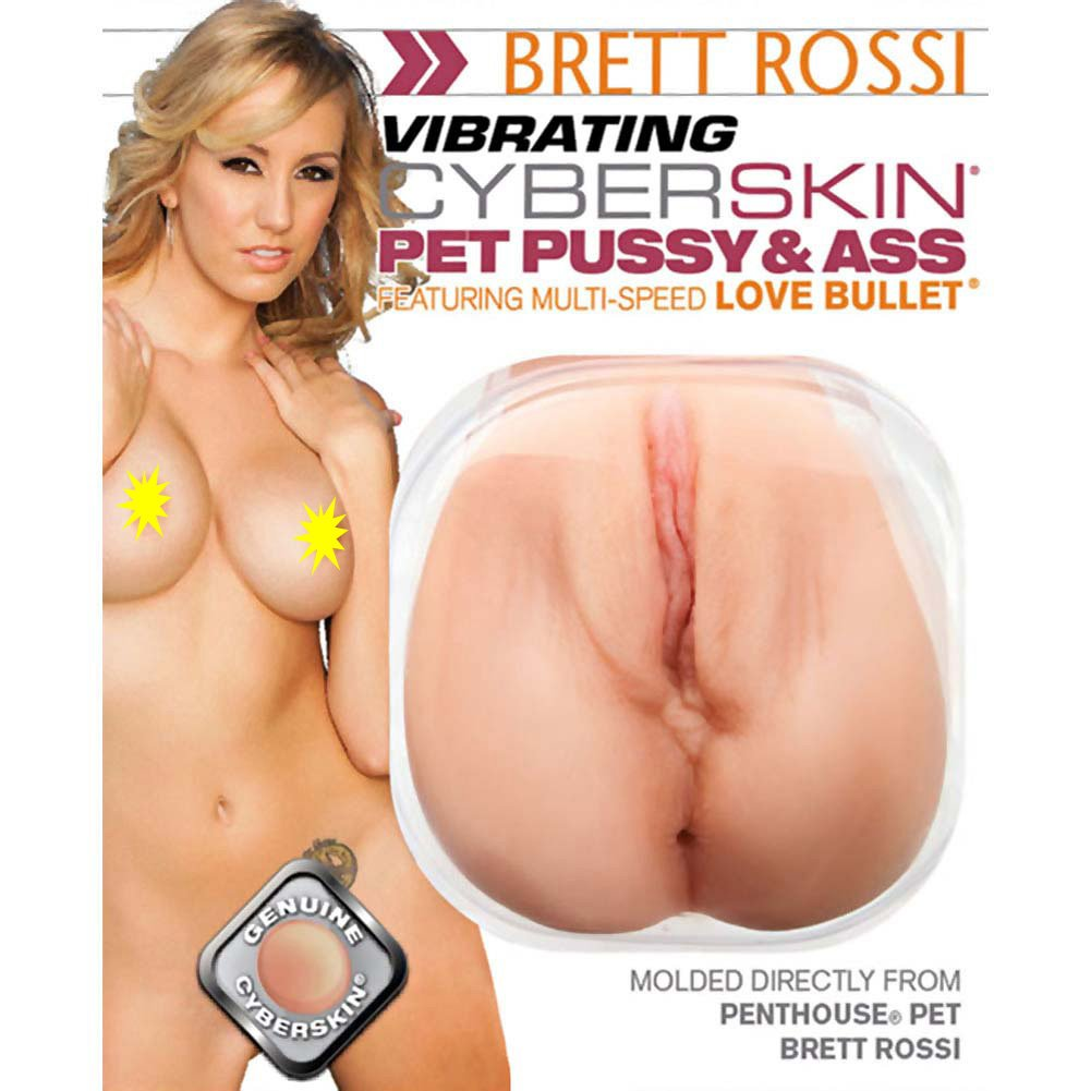 Penthouse Brett Rossi Vibrating CyberSkin Pet Pussy and Ass Masturbator - View #2