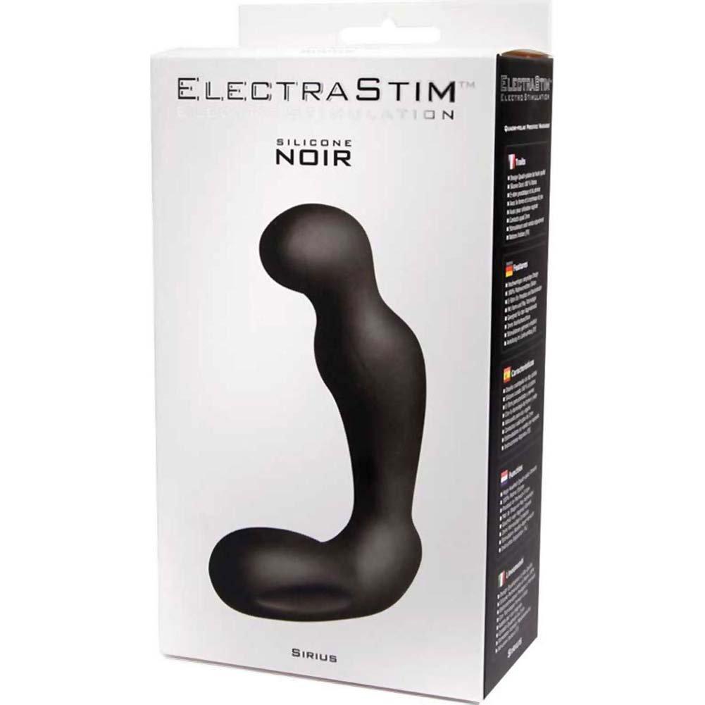 "ElectraStim Silicone Noir Sirius Electro Prostate Massager 4"" Black - View #1"