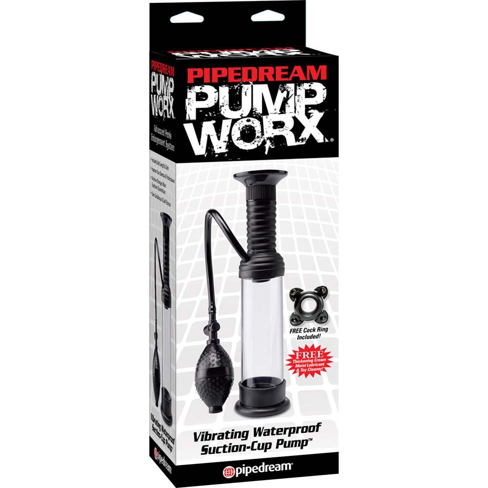 Pump Worx Vibrating Waterproof Suction-Cup Pump Black - View #1