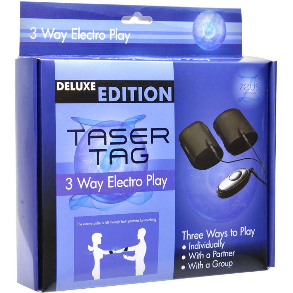 Zeus Electrosex Taser Tag 3 Way Electro Play Cuffs Black - View #4