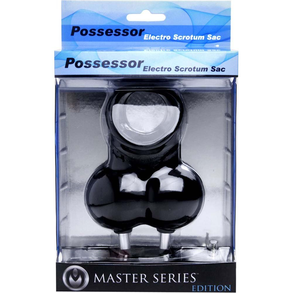 Master Series Possessor Electro Scrotum Sac Black - View #4