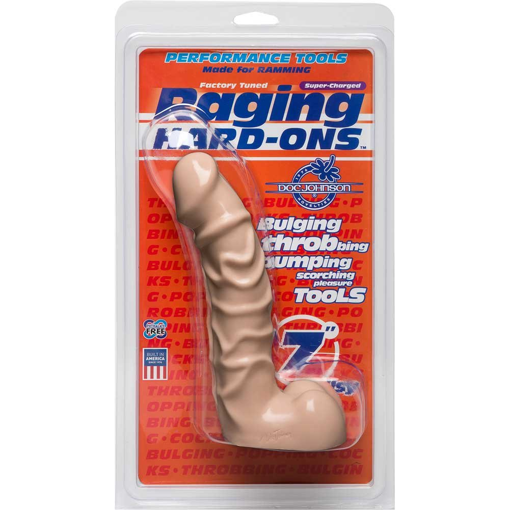 "Raging Hard-Ons 7"" Textured Dong with Balls - View #1"