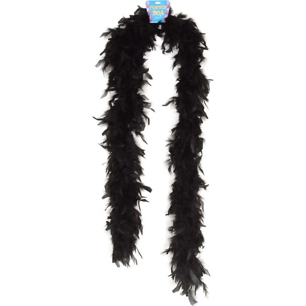 "Lightweight Feather Boa Party Accessory 72"" Black - View #1"