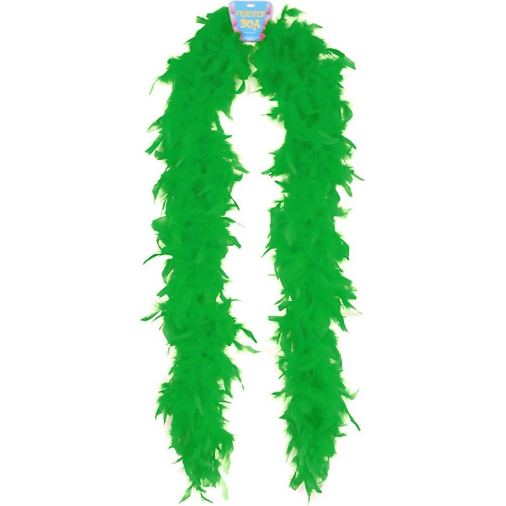 "Lightweight Feather Boa Party Accessory 72"" Green - View #1"