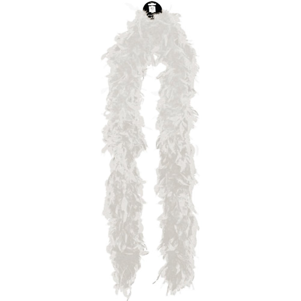 Mediumweight Feather Boa - White - View #1