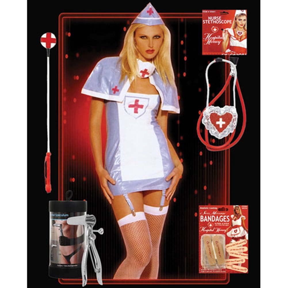 Halloween PVC Nurse Costume Combo - OS - View #1