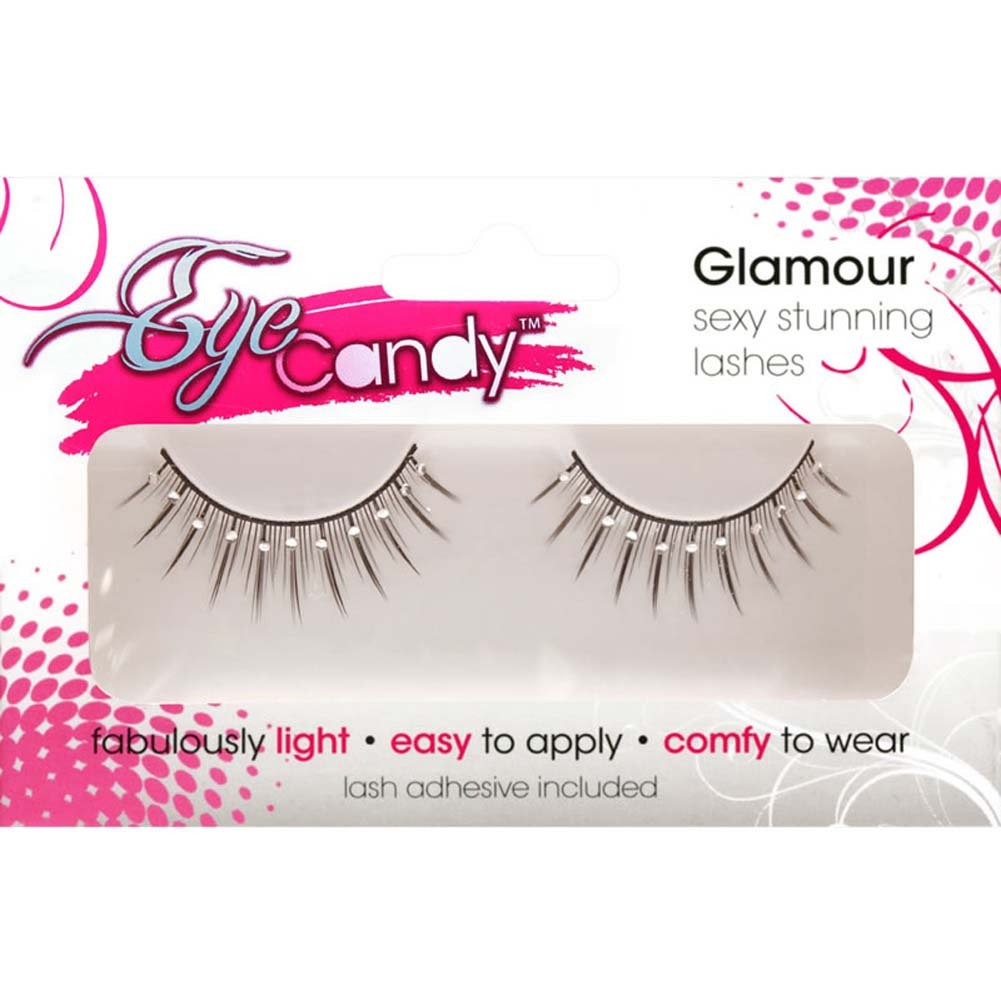 Eye Candy Born To Flirt Flirty Lashes with Crystal Accents Black - View #1